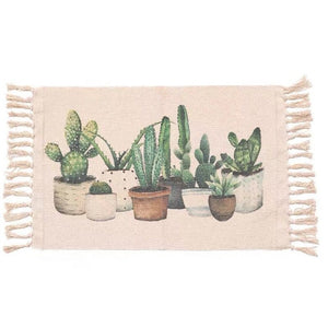 Cacti Tassel Knitted Floor Mat - Good Vibes Home Decor