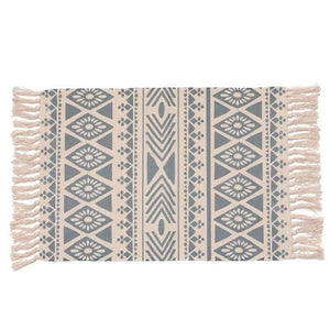 Geometric Tassel Knitted Floor Mat - Good Vibes Home Decor