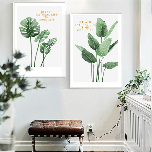 Plant Life Canvas Prints - Good Vibes Home Decor