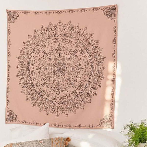 Bohemian Tapestry (Coral) - Good Vibes Home Decor