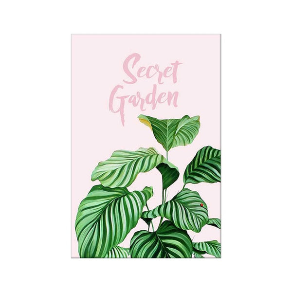 Green & Pink Canvas Prints - Good Vibes Home Decor