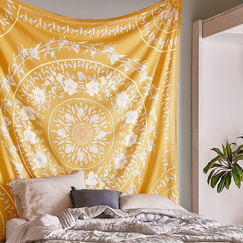 Bohemian Tapestry (Orange) - Good Vibes Home Decor