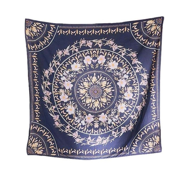 Bohemian Tapestry (Navy Blue) - Good Vibes Home Decor