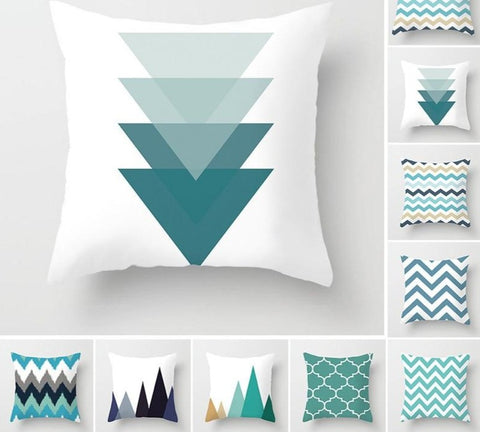 Teal Themed Cushion Covers - Good Vibes Home Decor
