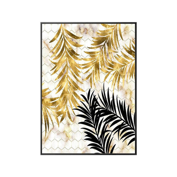 Golden Leaf Canvas Print - Good Vibes Home Decor