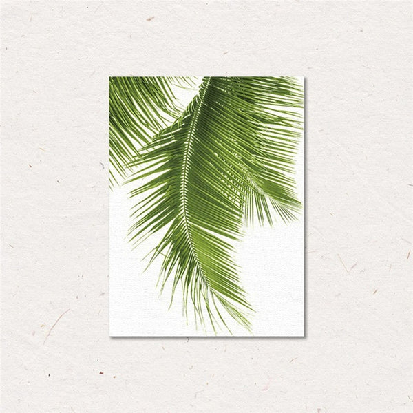 Tropical Leaf Canvas Prints - Good Vibes Home Decor