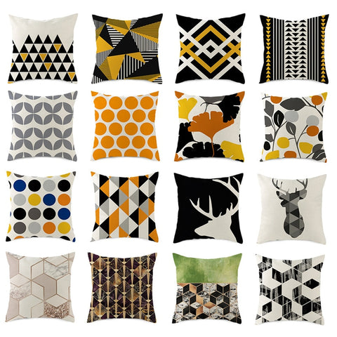 Geometric Cushion Covers - Good Vibes Home Decor