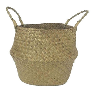 Natural Seagrass Basket - Good Vibes Home Decor