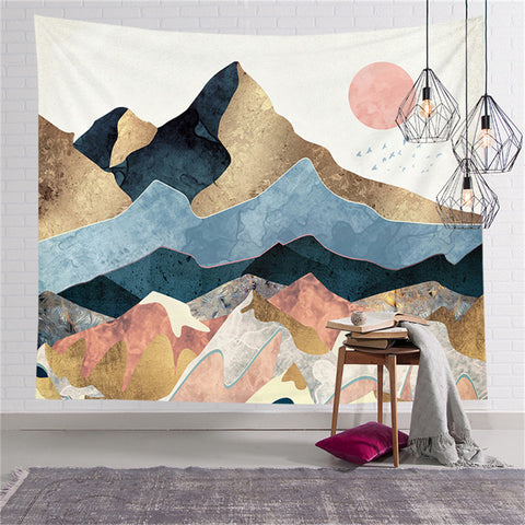 Mountain Landscape Tapestry - Good Vibes Home Decor
