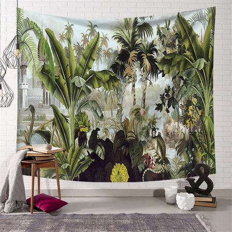 Tropical Jungle Tapestry - Good Vibes Home Decor