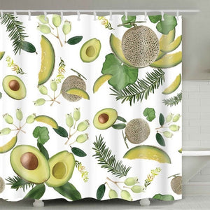 Tropical Fruit Shower Curtain - Good Vibes Home Decor