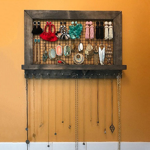 Rustic Jewelry Organizer - Good Vibes Home Decor