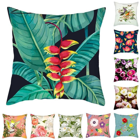 Floral Cushion Cover - Good Vibes Home Decor