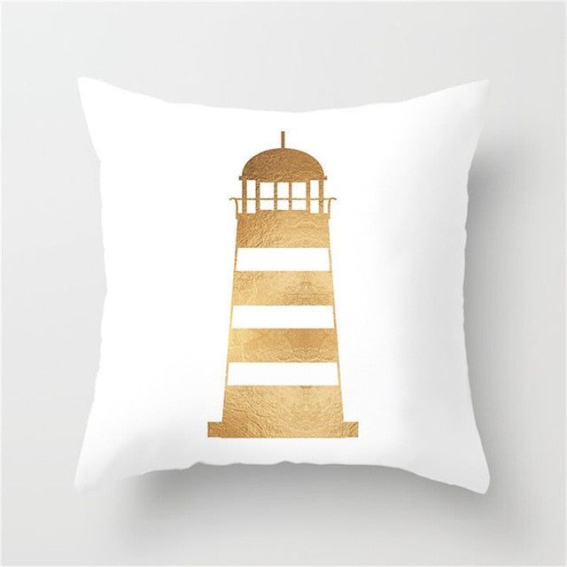 Gold Themed Cushion Covers - Good Vibes Home Decor