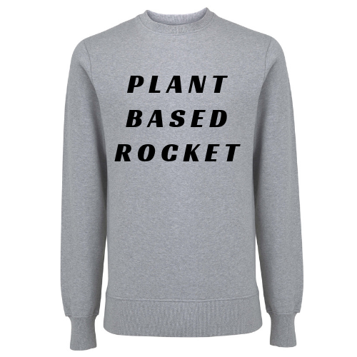 Plant Based Rocket Unisex Organic Cotton Sweatshirt