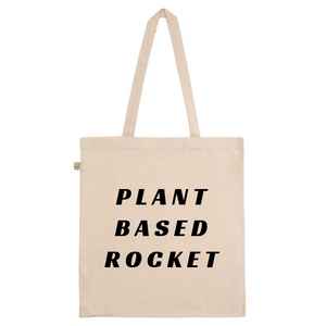 Plant Based Rocket Cotton Tote Bag