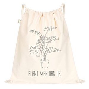Plant Wan Oan Us Drawstring Bag
