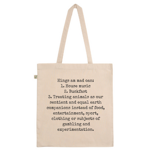 Techno & Buckfast Cotton Tote Bag