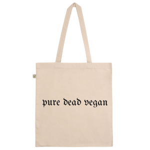 Pure Dead Vegan Cotton Tote Bag