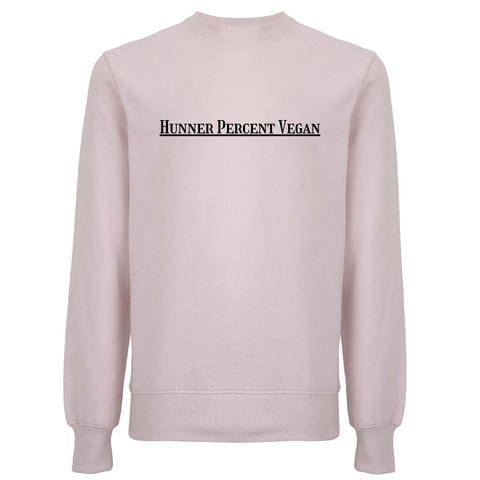 Hunner Percent Vegan Unisex Organic Cotton Sweatshirt