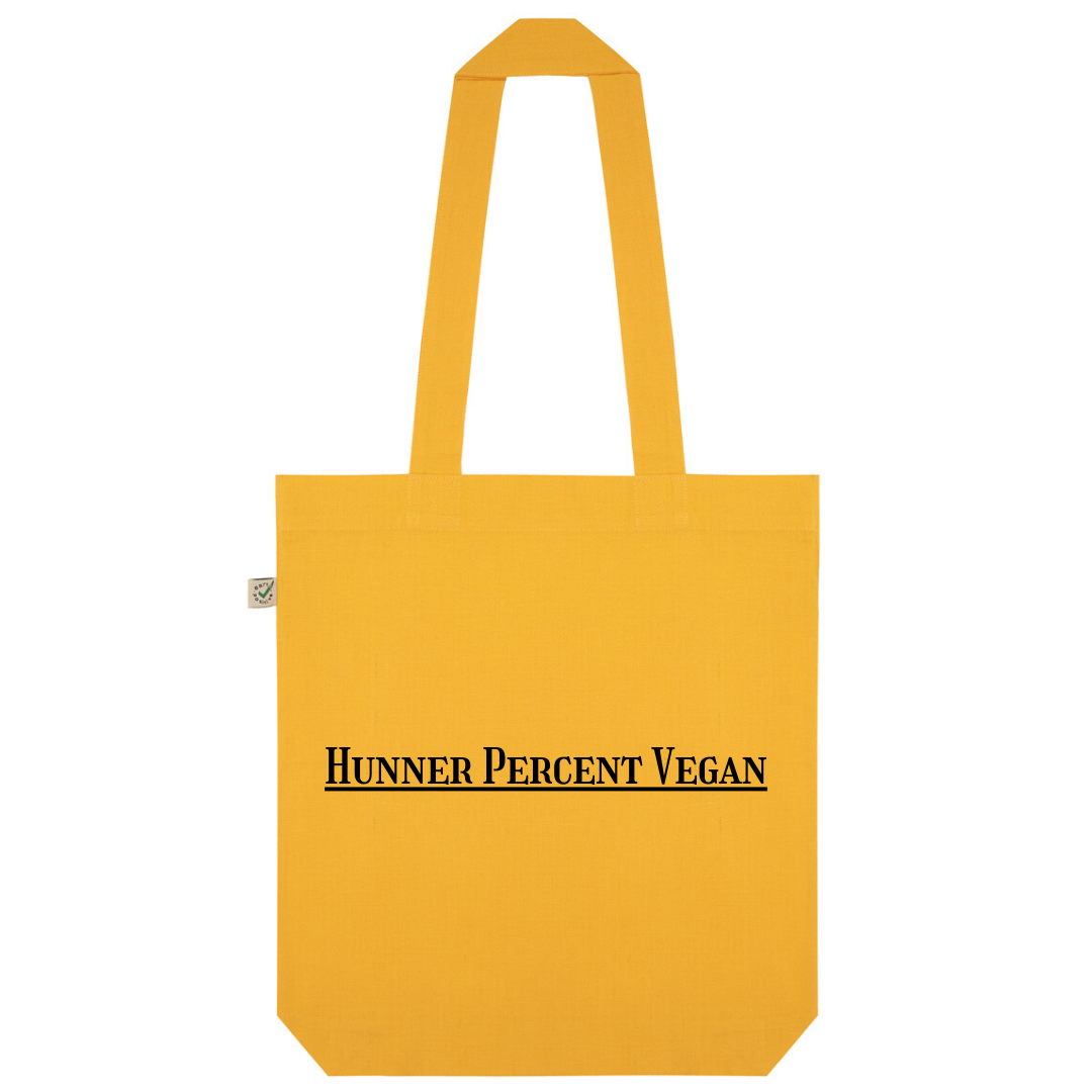 Hunner Percent Vegan Organic Cotton Fashion Tote Bag