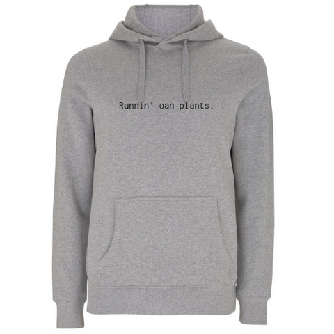 Runnin' Oan Plants Unisex Organic Cotton Hoodie
