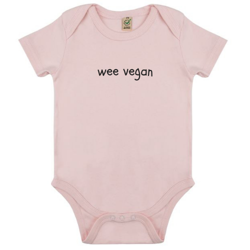 Wee Vegan Organic Cotton Babygrow