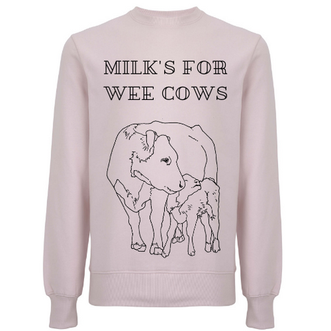 Milk's For Wee Cows Unisex Organic Cotton Sweatshirt
