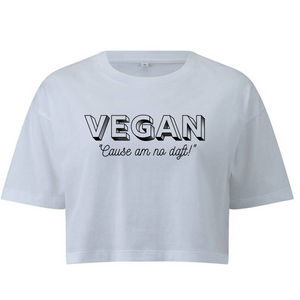 Vegan Cause Am No Daft Crop Tee