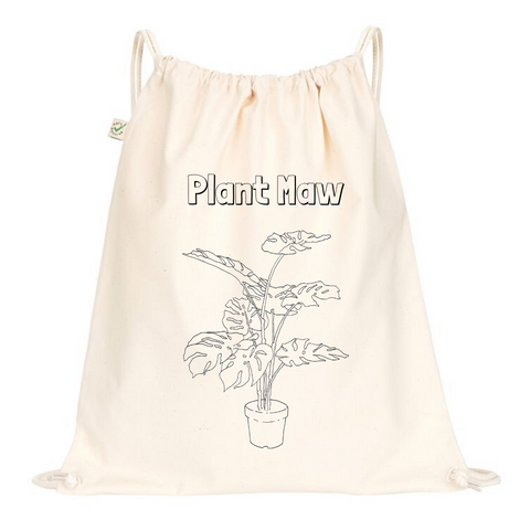 Plant Maw Drawstring Bag