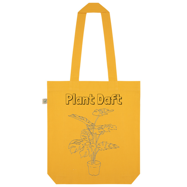 Plant Daft Organic Cotton Fashion Tote Bag