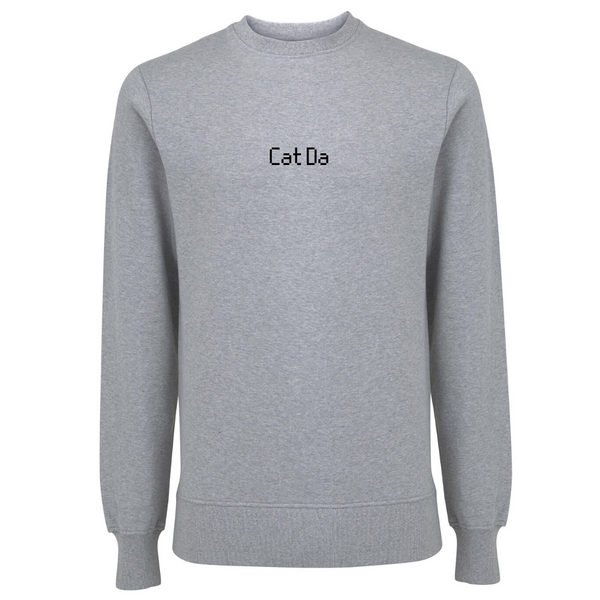 Cat Da Unisex Organic Cotton Sweatshirt