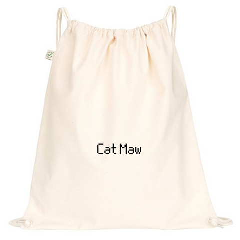 Cat Maw Drawstring Bag