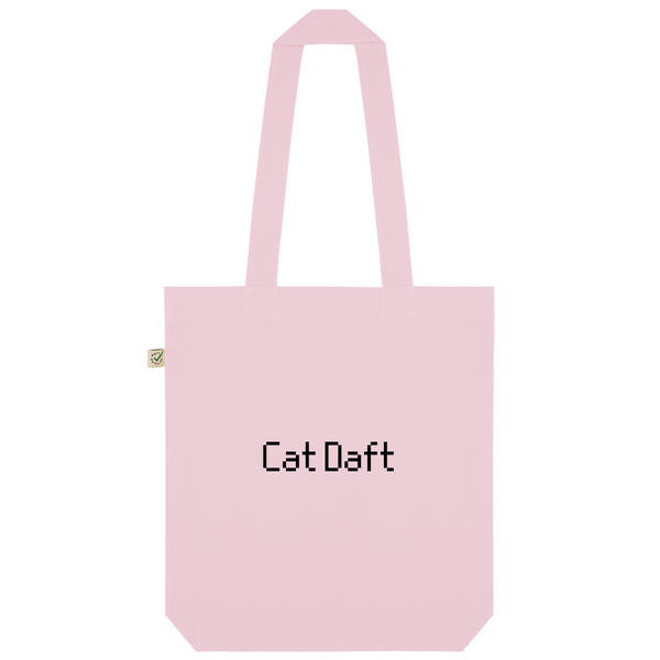 Cat Daft Organic Cotton Fashion Tote Bag
