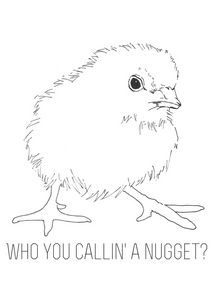 Who You Callin' A Nugget? Postcard