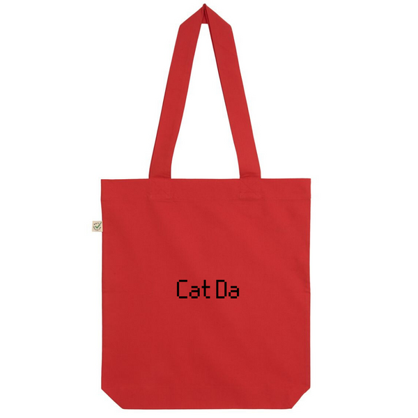 Cat Da Organic Cotton Fashion Tote Bag