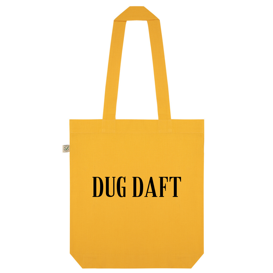 Dug Daft Organic Cotton Fashion Tote Bag