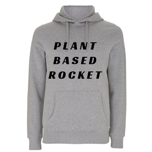 Plant Based Rocket Unisex Organic Cotton Hoodie