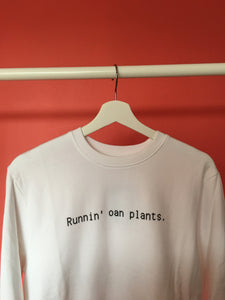 Runnin' Oan Plants Unisex Organic Cotton Sweatshirt