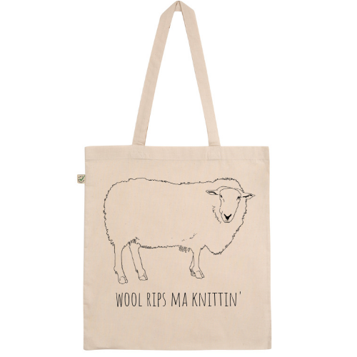 Wool Rips Ma Knittin' Tote Bag