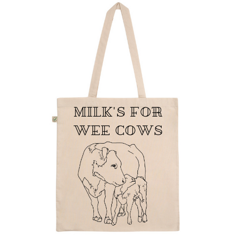 Milk's For Wee Cows Tote Bag