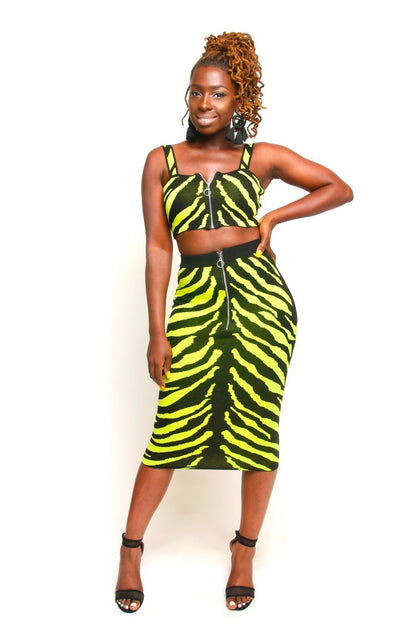 Zebra Print Knit Set