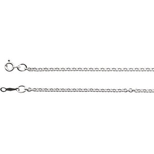 Sterling Silver 2.1mm Cable Chain
