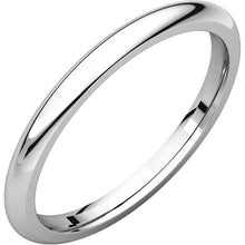 Load image into Gallery viewer, 2 mm White Gold Comfort Fit Classic Wedding Band