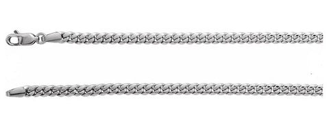 3.7 mm Silver Miami Cuban Link Chain with Lobster Clasp