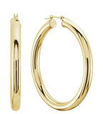 Small Classic Gold Tube Earrings 4 mm Thick