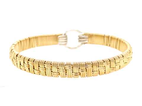 Elite Basket Bangle Bracelet
