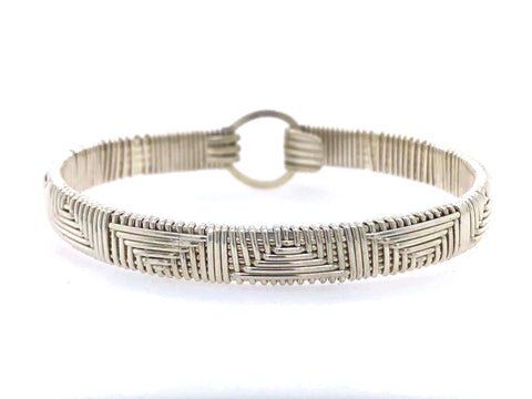 Elite Chevron Bangle Bracelet