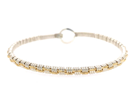 Petite Basket Weave Bangle Bracelet