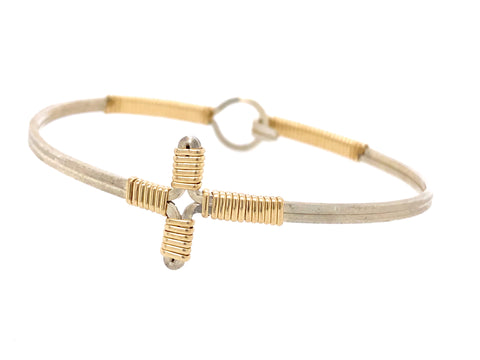 Petite Cross Bangle Bracelet